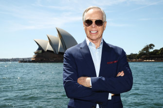 US designer Tommy Hilfiger is visiting Australia for the first time.