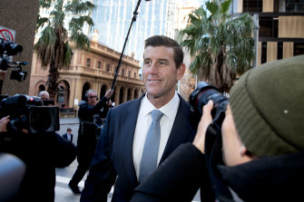Ben Roberts-Smith walks into Federal Court for the defamation trial.