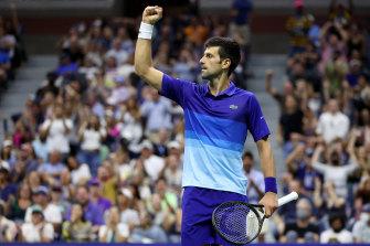 Novak Djokovic is three wins from a calendar Slam.