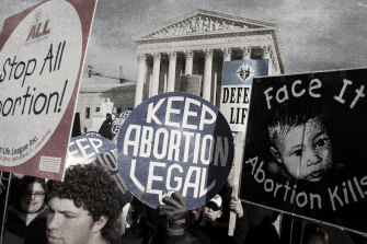 A March for Life saw pro-life and pro-choice supporters voicing their views on the 31st anniversary of Roe v Wade outside the Supreme Court in 2004.
