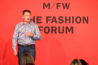 Futurist Doug Stephens, AKA the Retail Prophet, speaking at Melbourne Fashion Week.