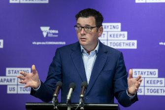 Premier Daniel Andrews struck a cautious tone on Saturday.