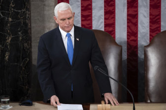 Vice-President Mike Pence grew a backbone in the wake of the chaos on Capitol Hill last week.