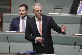 Communications Minister Paul Fletcher (pictured) and Prime Minister Scott Morrison have disputed the ABC is facing cuts to its budget.
