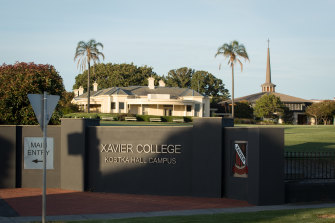 Xavier College's Kostka Hall Campus in Brighton.