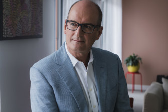 Sunrise co-host David Koch at his home in Sydney's Millers Point.
