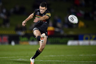Nathan Cleary's kicking game has been a big talking point during the finals series.