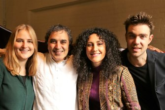 Visions of Nar: (from left) Hilary Geddes, Bobby Singh, Zela Margossian and Jeremy Rose.