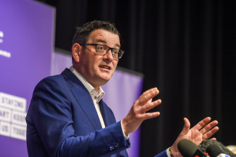 Daniel Andrews announced some suburbs would face new lockdown measures due to a rise in coronavirus numbers on Thursday.