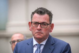 Premier Daniel Andrews was taken to The Alfred hospital on Tuesday.