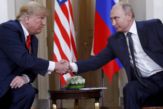US President Donald Trump and his Russian counterpart Vladimir Putin in Finland in 2018.