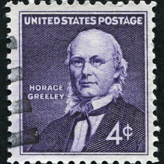 Presidential candidate Horace Greeley died of exhaustion at the end of his campaign in 1872.