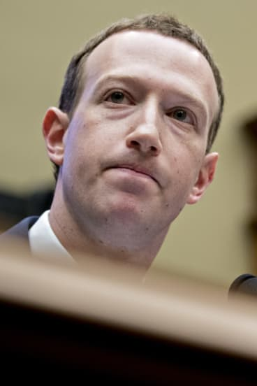 Mark Zuckerberg, chief executive officer and founder of Facebook, during a congressional hearing in Washington in April.