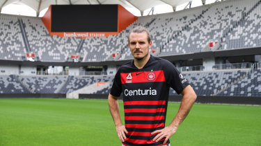 Alexander Meier, Western Sydney's new marquee signing, soaks in the serenity at Bankwest Stadium.