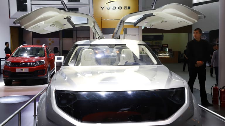 Electric vehicles are projected to grow rapidly in coming years, led by companies such as China's YUDO group.