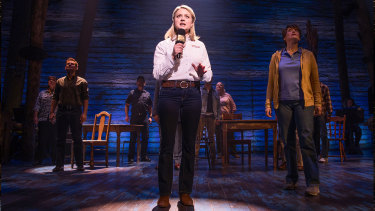 Kendra Kassebaum in the original Broadway production of Come From Away.