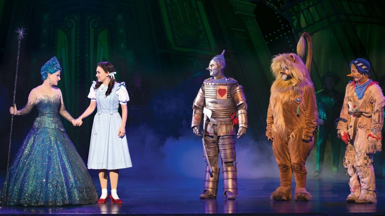 Lucy Durack (left) plays Glinda the Good in The Wizard of Oz.