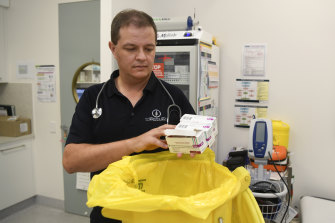 Dr Michael Clements in Townsville, who recently had to throw away unused AstraZeneca vaccines for lack of interest.