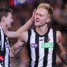 Are the footy gods barracking for or against Collingwood?
