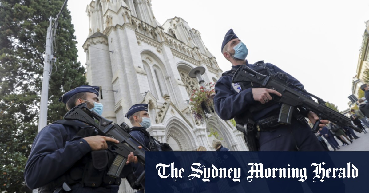 France on high alert deploys military after beheading at church in Nice – Sydney Morning Herald