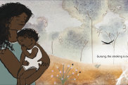Illustration from Jasmine Seymour's Baby Business, shortlisted for the CBCA awards.