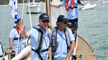 Westpac chairman Lindsay Maxsted at the Couta Boat Classic in the Victorian seaside town of Sorrento on January 3.