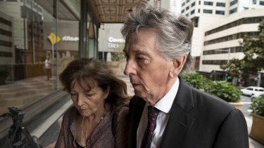 Convicted solicitor Michael Croke, with partner Rocelyn Drew, outside the Downing Centre.