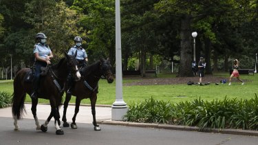 There was a large police presence in Sydney on Saturday to thwart anti-lockdown protests. NSW Police deemed the operation a success.