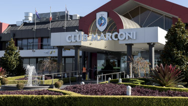 Club Marconi has set up a temporary gaming room near the entrance to the club.