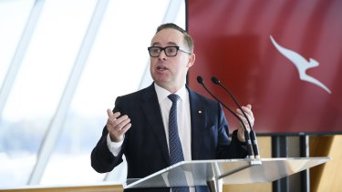 """Qantas chief Alan Joyce said that shifting one or more of the offices had been a """"live option"""" for the group."""