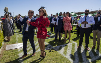 Marylou Bergis bet on Melbourne Cup winner Twilight Payment. ''It's a very, very good ending to the day,'' she said.