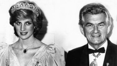 Prime Minister Bob Hawke and the Princess of Wales