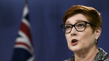 Foreign Minister Marise Payne said China's legal process was opaque.