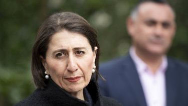 NSW Premier Gladys Berejiklian and Deputy Premier John Barilaro announced an easing of COVID-19 restrictions on Friday.