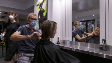 Restrictions on hairdressers and barbers have been lifted.