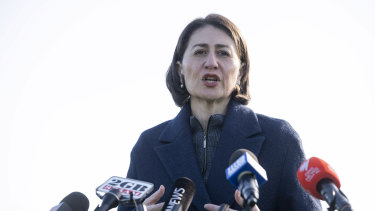 Not welcome: Ms Berejiklian said businesses can turn away customers from Melbourne's coronavirus hotspots.