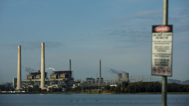 The Liddell and Bayswater coal-fired power stations in the Hunter Valley.