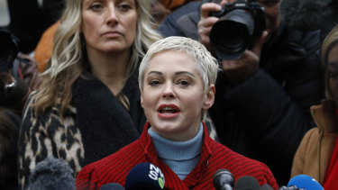 Actress Rose McGowan testified against Harvey Weinstein.