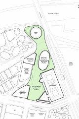 A plan of the new arts precinct.
