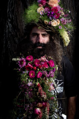 Floral beards at the Ekka.
