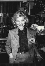 Lauren Bacall photographed at the shop of Sebel Town House in 1979.