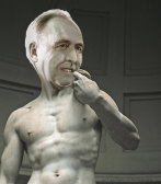 Paul Keating at Michelangelo's David (with apologies to Michelangelo).