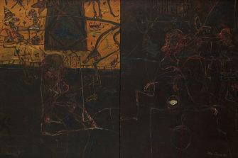 John Olsen, Donde Voy? Self-Portraits in Moments of Doubt, 1989