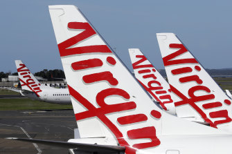 Virgin has cancelled flights to Melbourne.