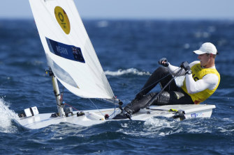 Matt Wearn has won Australia's first sailing gold of the regatta.