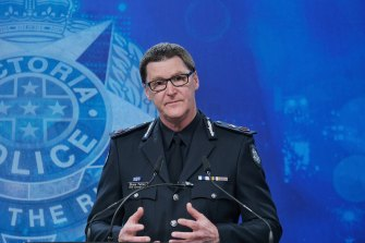 Chief Commissioner Shane Patton on Monday afternoon.
