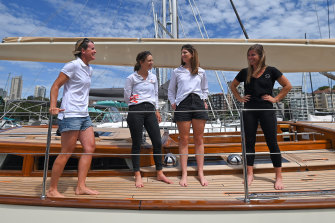 Stacey Jackson, Clare Costanzo, Juliet Costanzo and Nina Curtis are competing in this year's race, which marks the 75th year since the first women entrants.