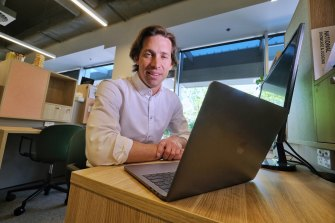Tom Bernadou, managing director of Riley, at his new office in coworking space The Commons.