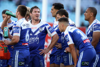 Josh Jackson and the Bulldogs during yet another loss in a forgettable 2020 NRL campaign.