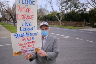 Paul Zimmet, prof of diabetics at Monash University is on a crusade to encourage mask use and social distancing.